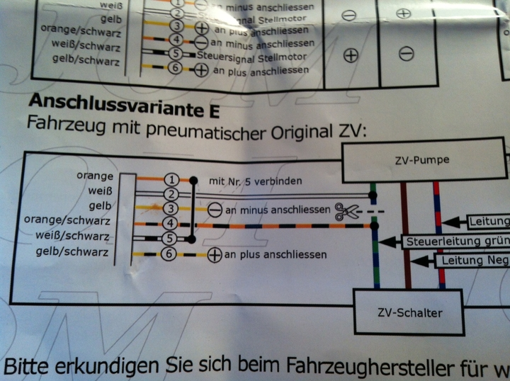 def. ZV oder was ist das Problem? - Elektrik & Elektronik - Fabia4Fun