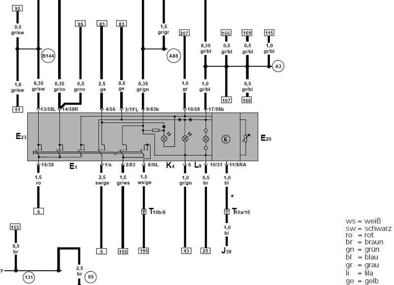 Pinbelegung Lichtschalter 6n2